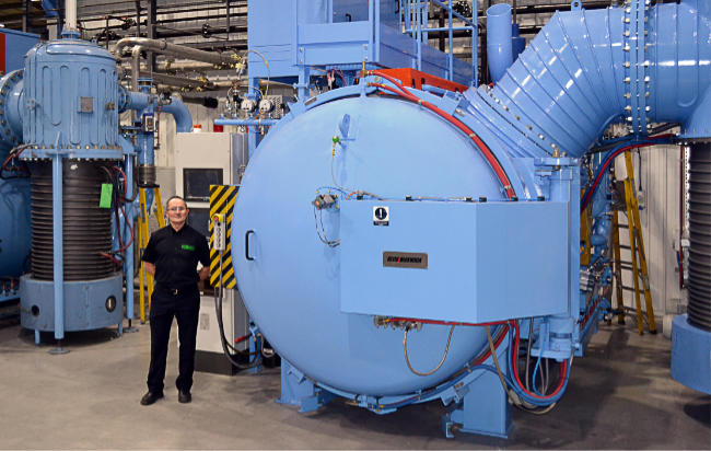 Peter Cookson takes delivery of a new Vacuum Furnace from Santa